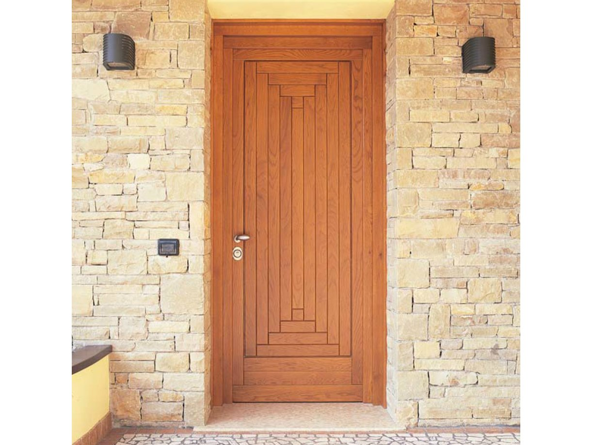 Porte d entr e en ch ne by carminati serramenti for Porte bois exterieur recoupable