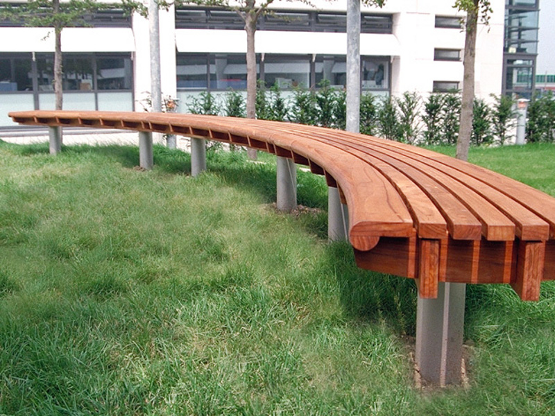 Scroll Curved Bench By Factory Street Furniture