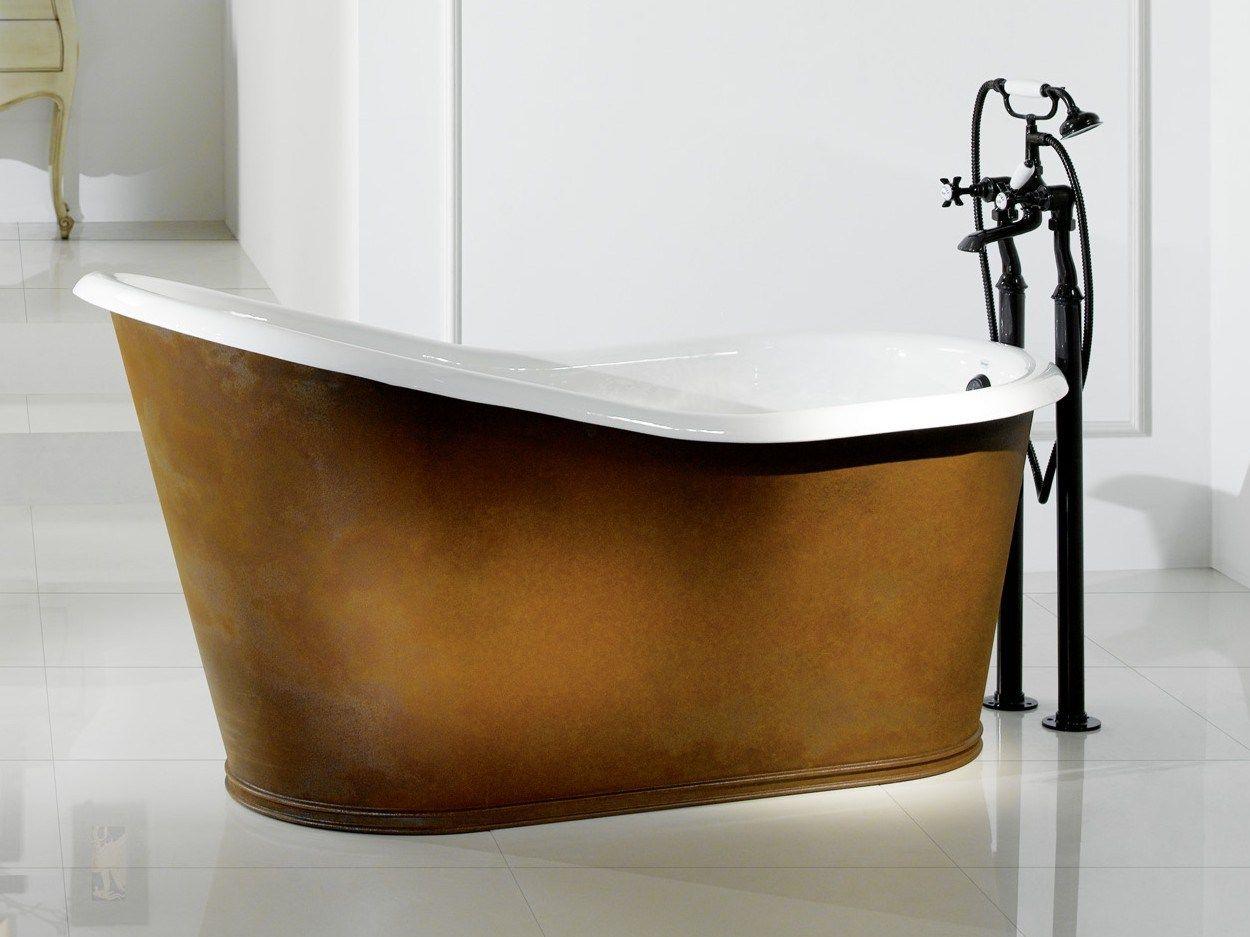 Vasca da bagno in ghisa old lavande copper by bleu provence - Vasca da bagno in ghisa ...