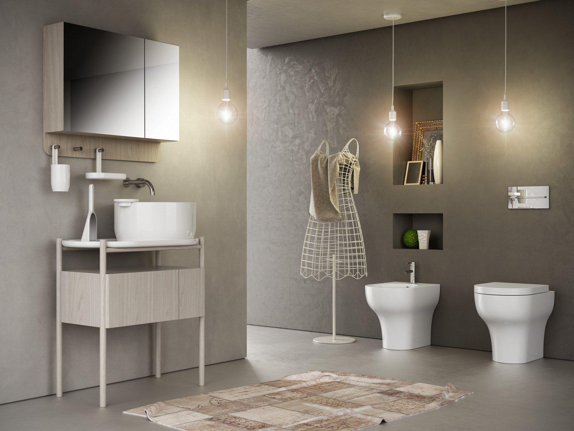 Ukiyo e lavabo sobre encimera by olympia ceramica for Embellecedor rebosadero lavabo