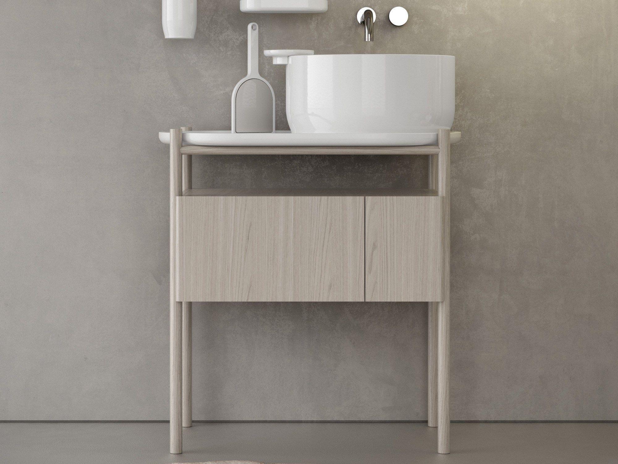 Ukiyo e vanity unit by olympia ceramica - Lavamanos con mueble ...