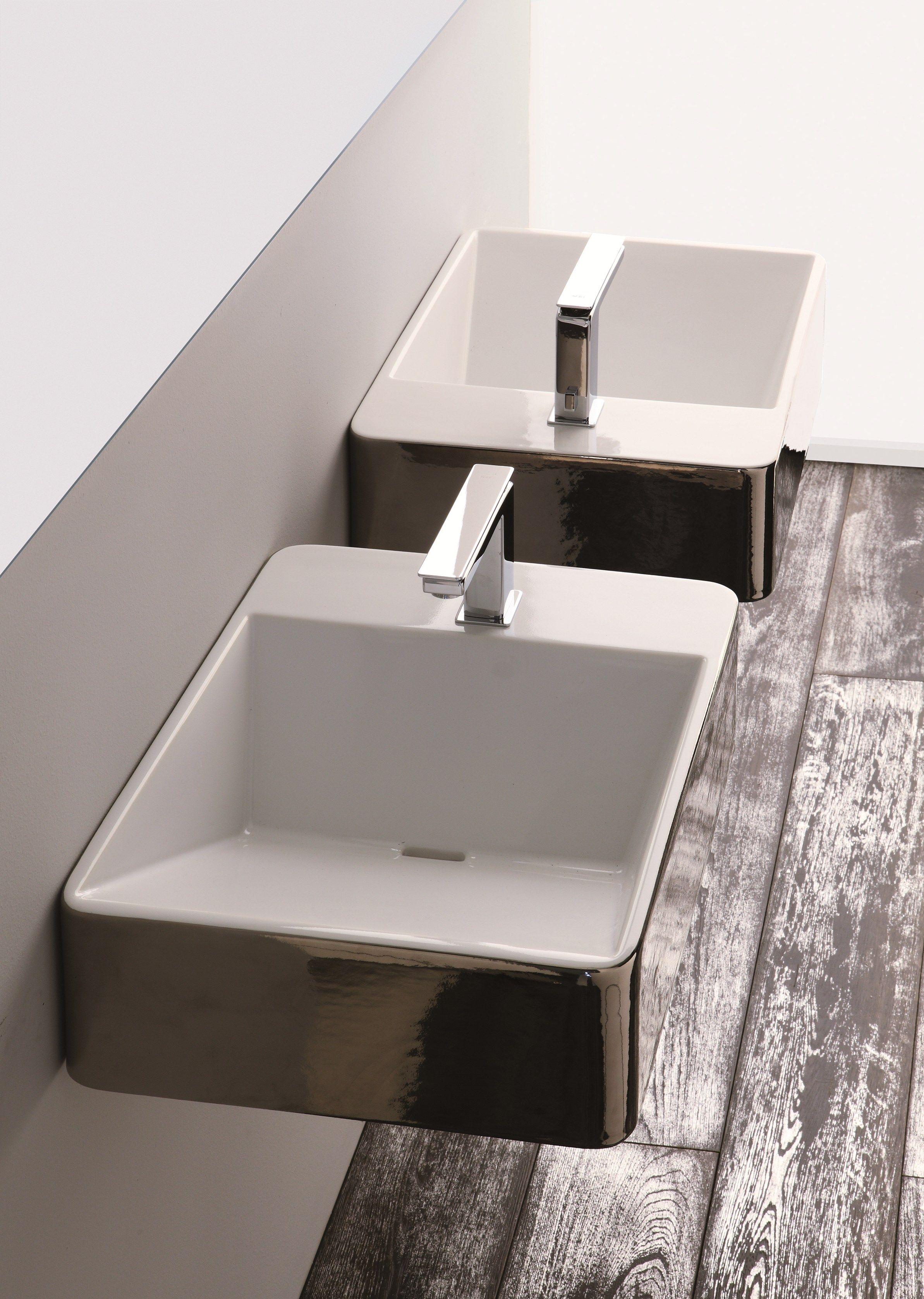 Lavabi d 39 arredo lavabo rettangolare by olympia ceramica for Lavabi d arredo