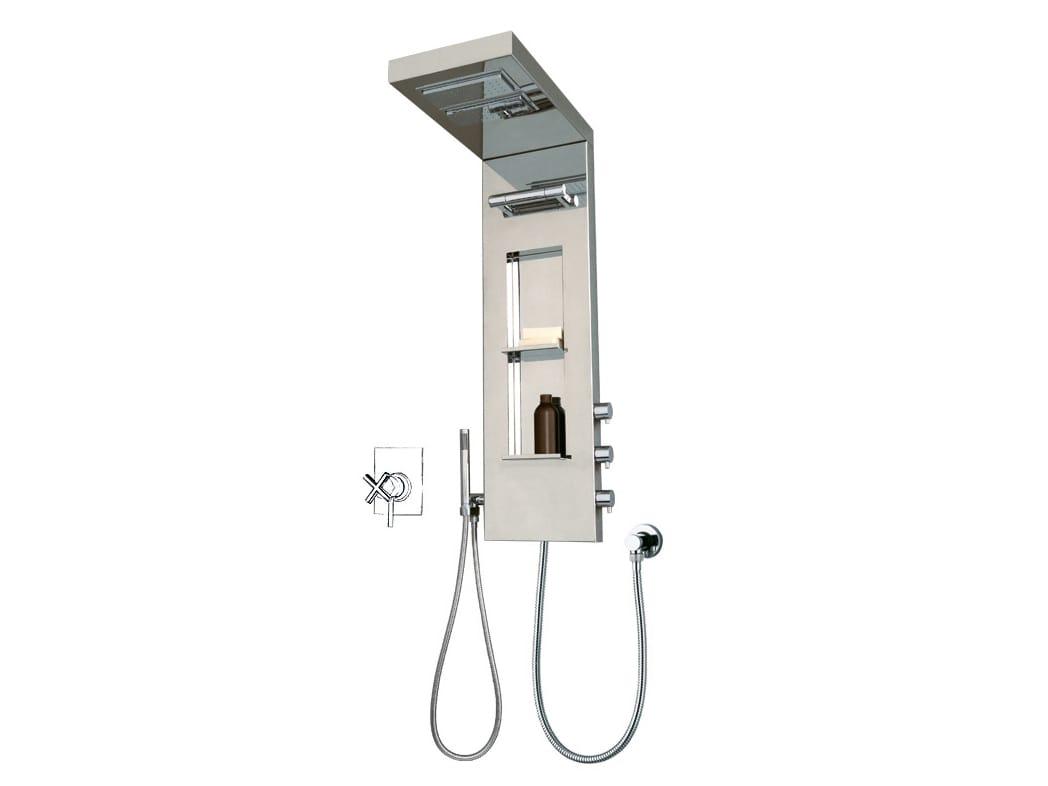 Colonna doccia multifunzione con soffione YORK PANEL by Bossini