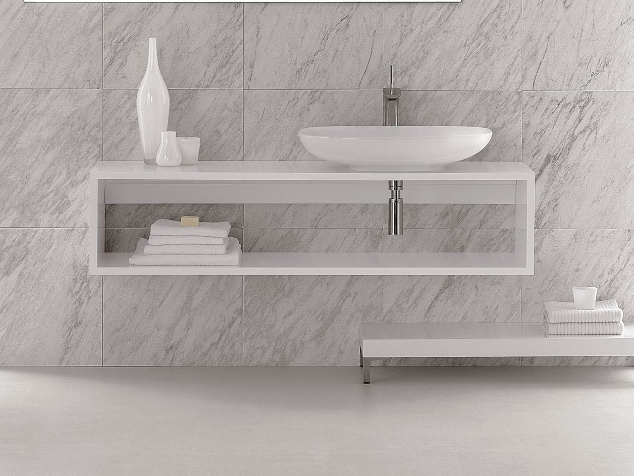 Clear Vanity Unit By Olympia Ceramica