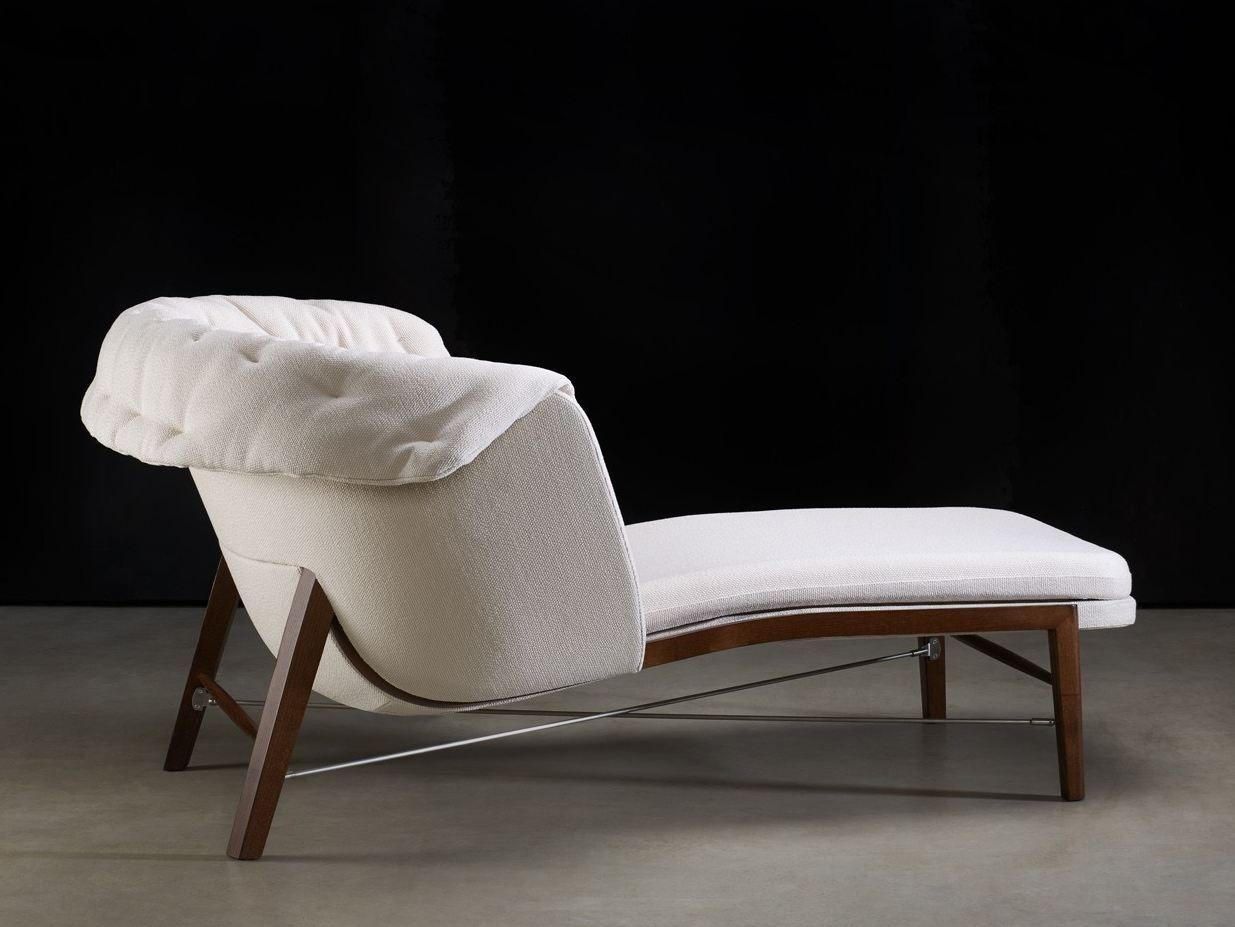 chaise longue in tessuto collezione cleo by rossin design archirivolto. Black Bedroom Furniture Sets. Home Design Ideas