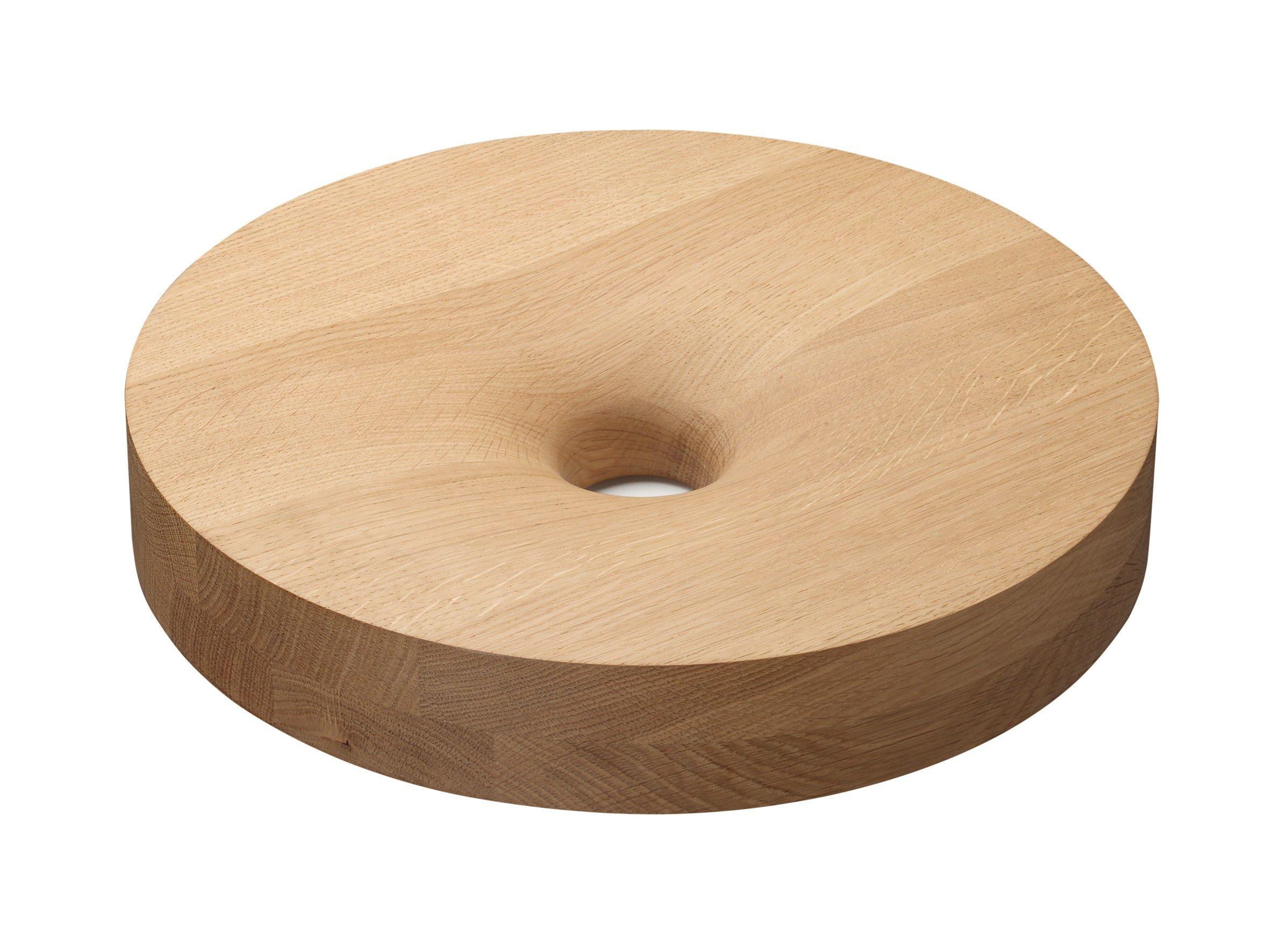 Portafrutta in legno ac09 turn by e15 design mark braun - Portafrutta in legno ...