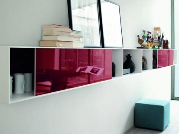 lackierter h ngeschrank aus hi macs mit schiebet ren slim by lema design studio kairos. Black Bedroom Furniture Sets. Home Design Ideas