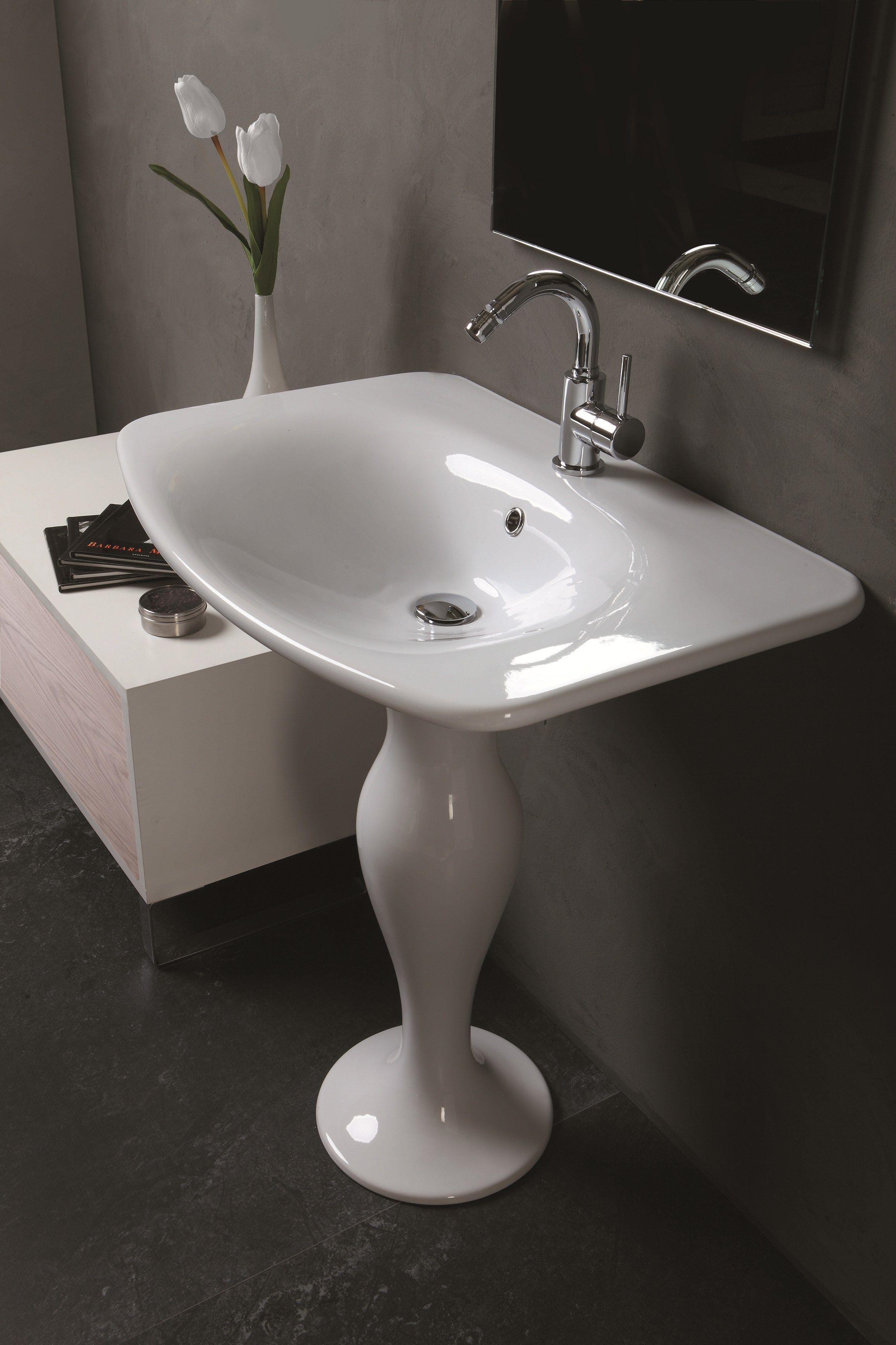 Formosa lavabo su colonna by olympia ceramica design - Lavabo con colonna ...