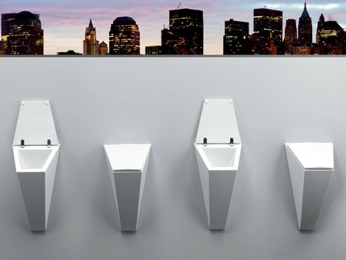 crystal urinal by olympia ceramica design francesco lucchese. Black Bedroom Furniture Sets. Home Design Ideas