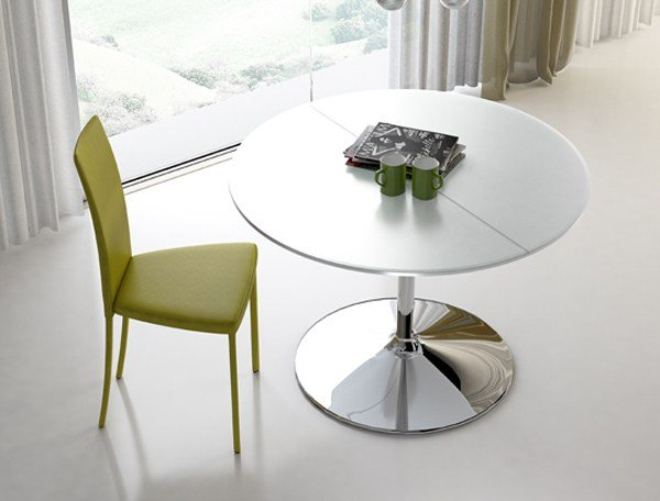 Small mesa extensible by riflessi dise o riflessi for Mesa extensible diseno