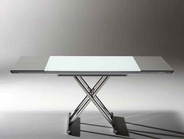 genius table basse r glable en hauteur by riflessi. Black Bedroom Furniture Sets. Home Design Ideas