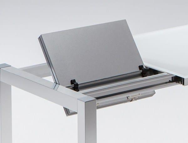 Mesa extensible de cocina de comedor de aluminio de dise o - Mesa cocina diseno ...