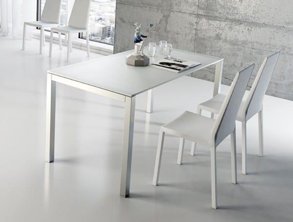 Mesa extensible de cocina de comedor de aluminio de dise o for Mesas de cocina de diseno
