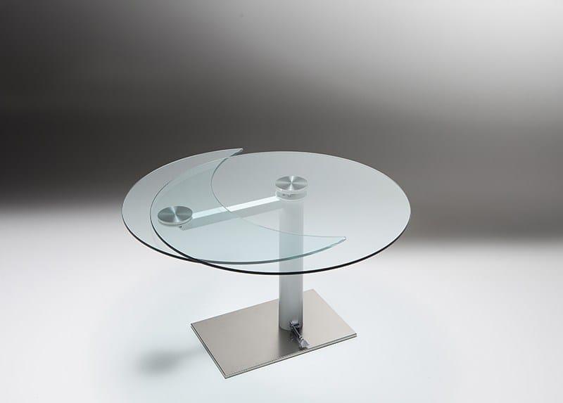 tavoli rotondi in vetro allungabili : Tavolo allungabile rotondo in cristallo FOREVER Tavolo allungabile ...
