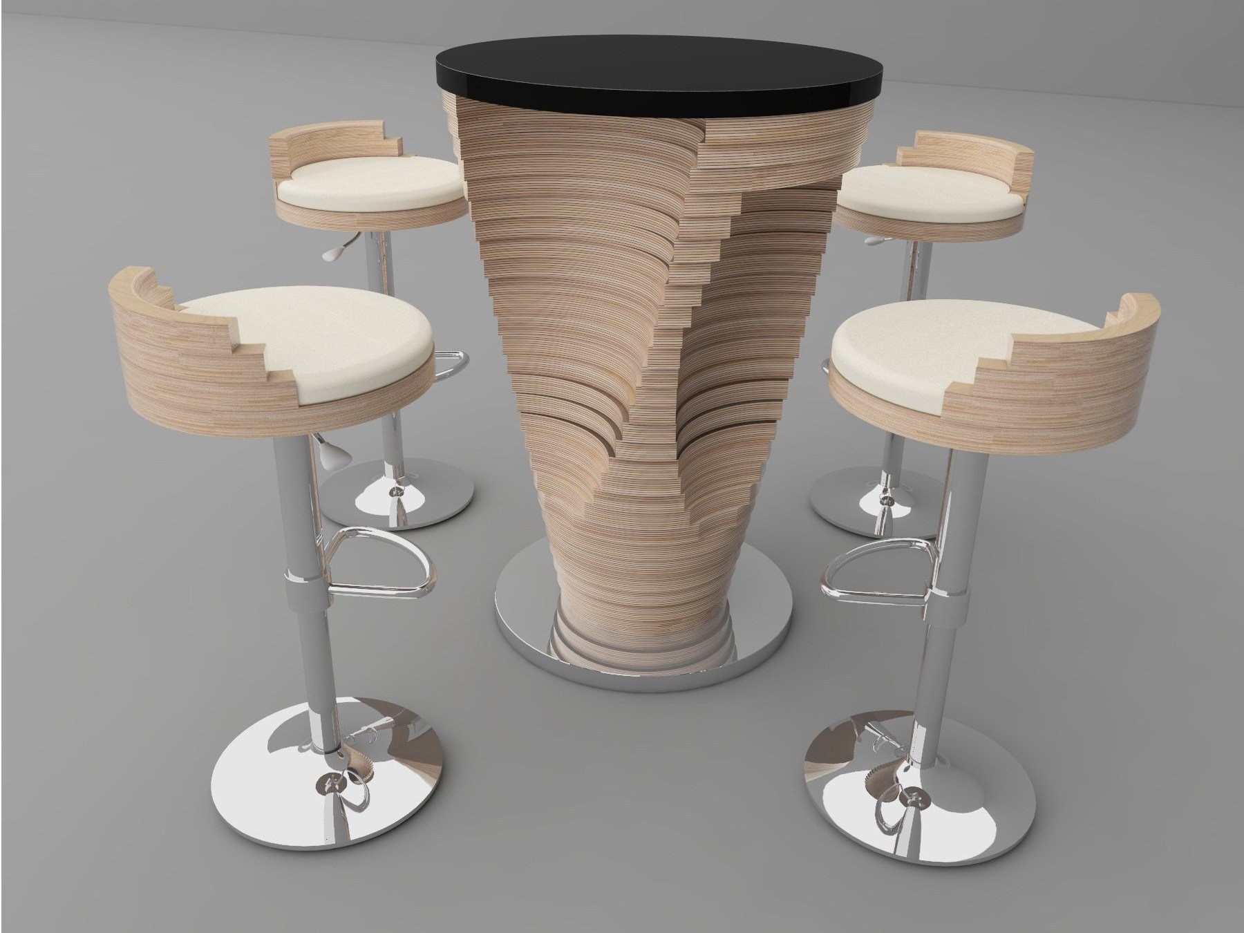 Stratum mange debout s rie stratum by zuri design for Table ronde bar