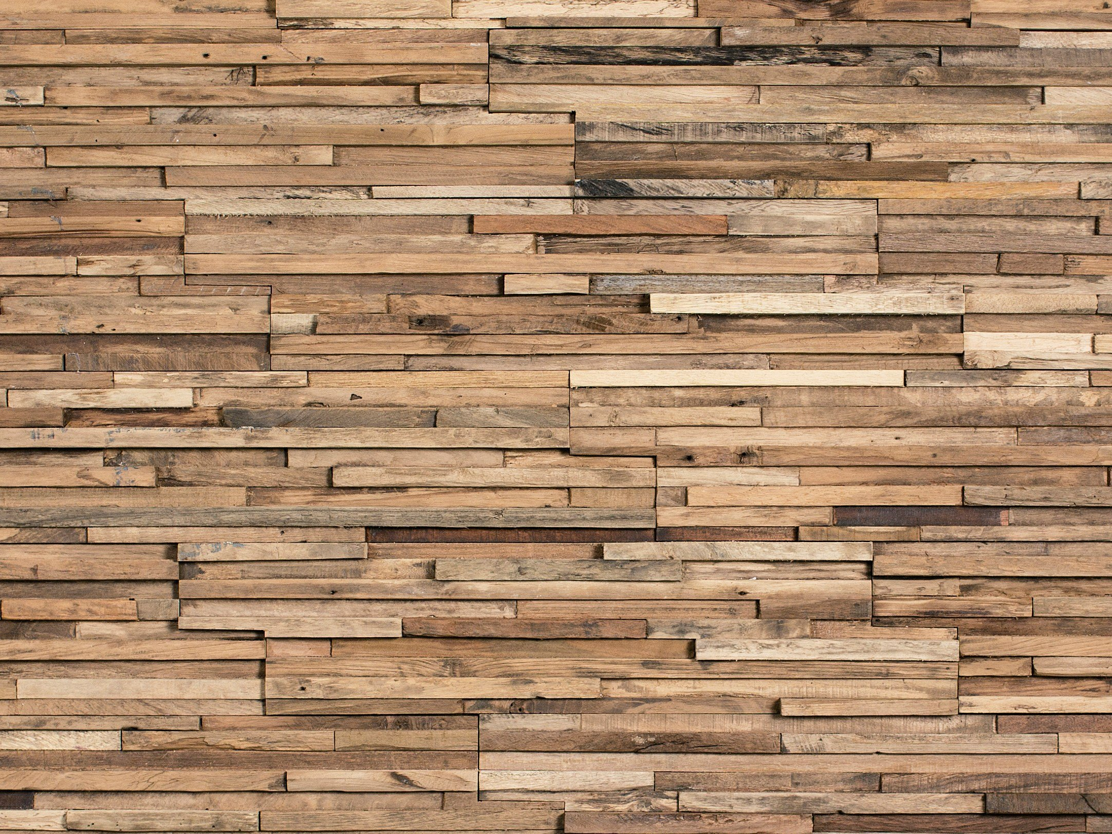 Wooden d wall cladding for interior parker by wonderwall