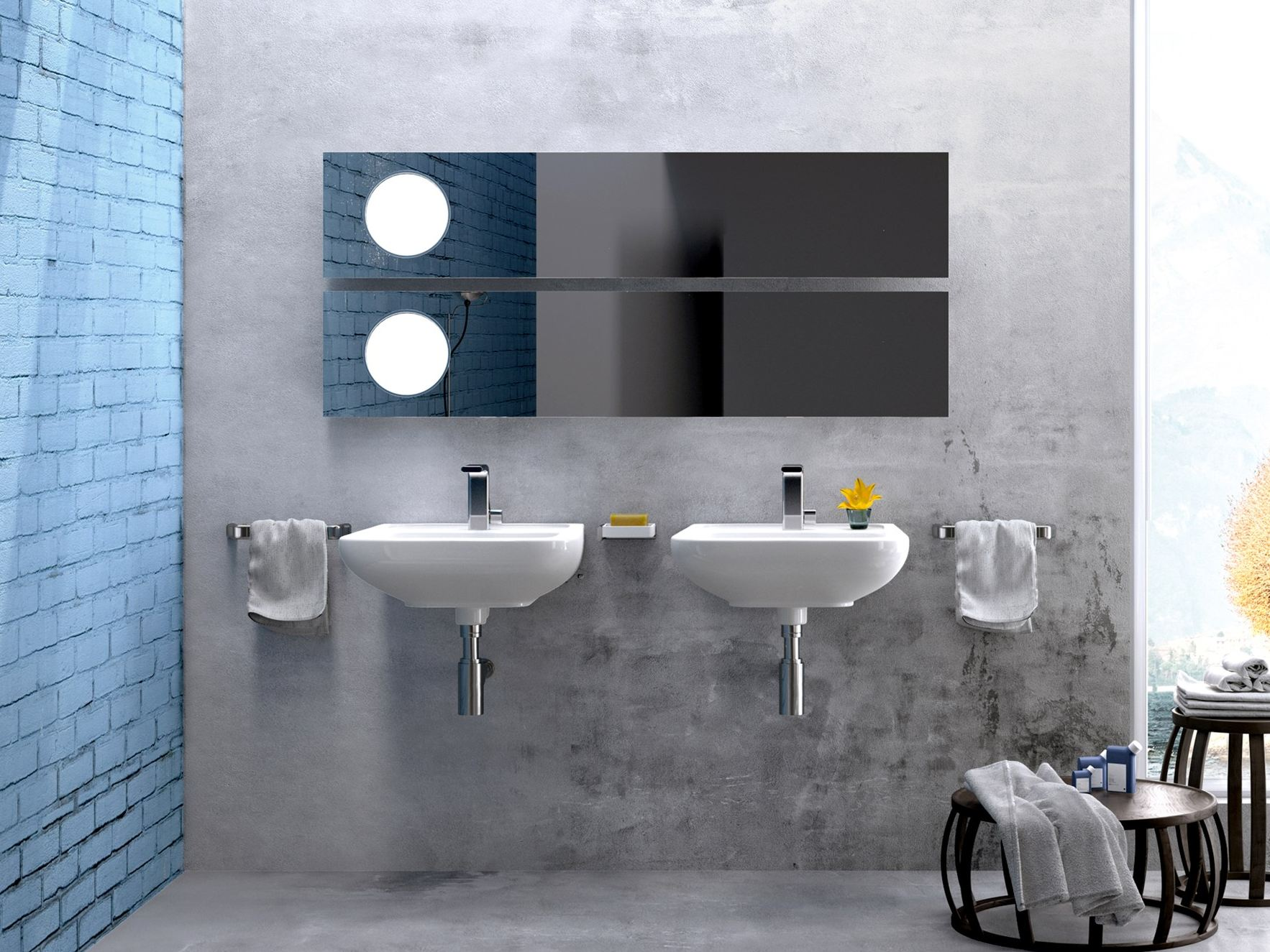 Como wall mounted washbasin by ceramica flaminia design for Arredo bagno black friday