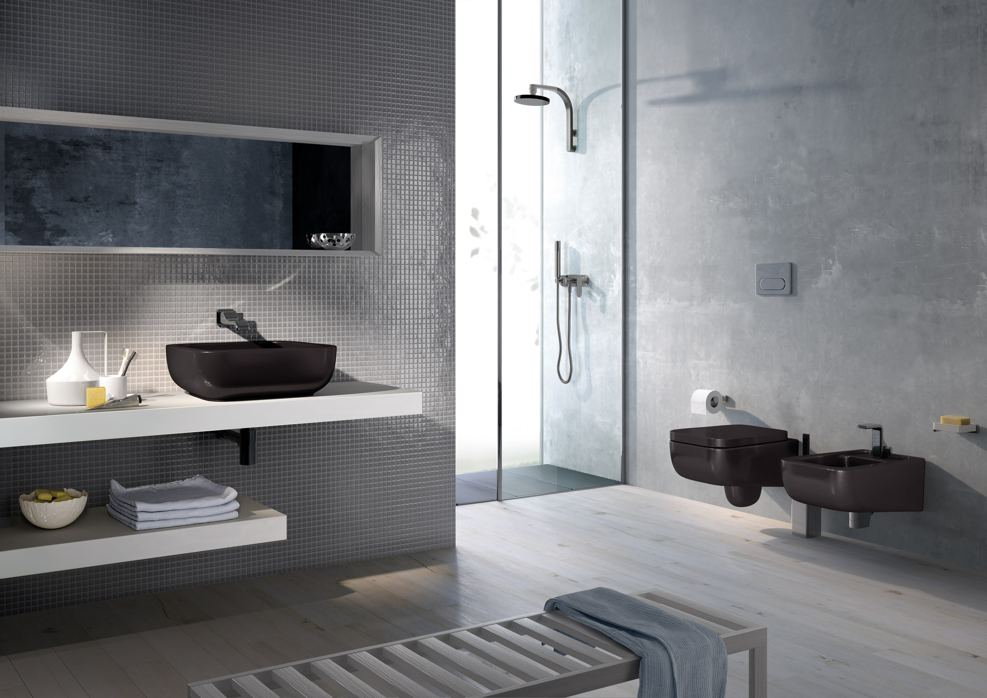 Amazing   Home  Bathroom  Bathroom Furniture Set From Nassau Louvered