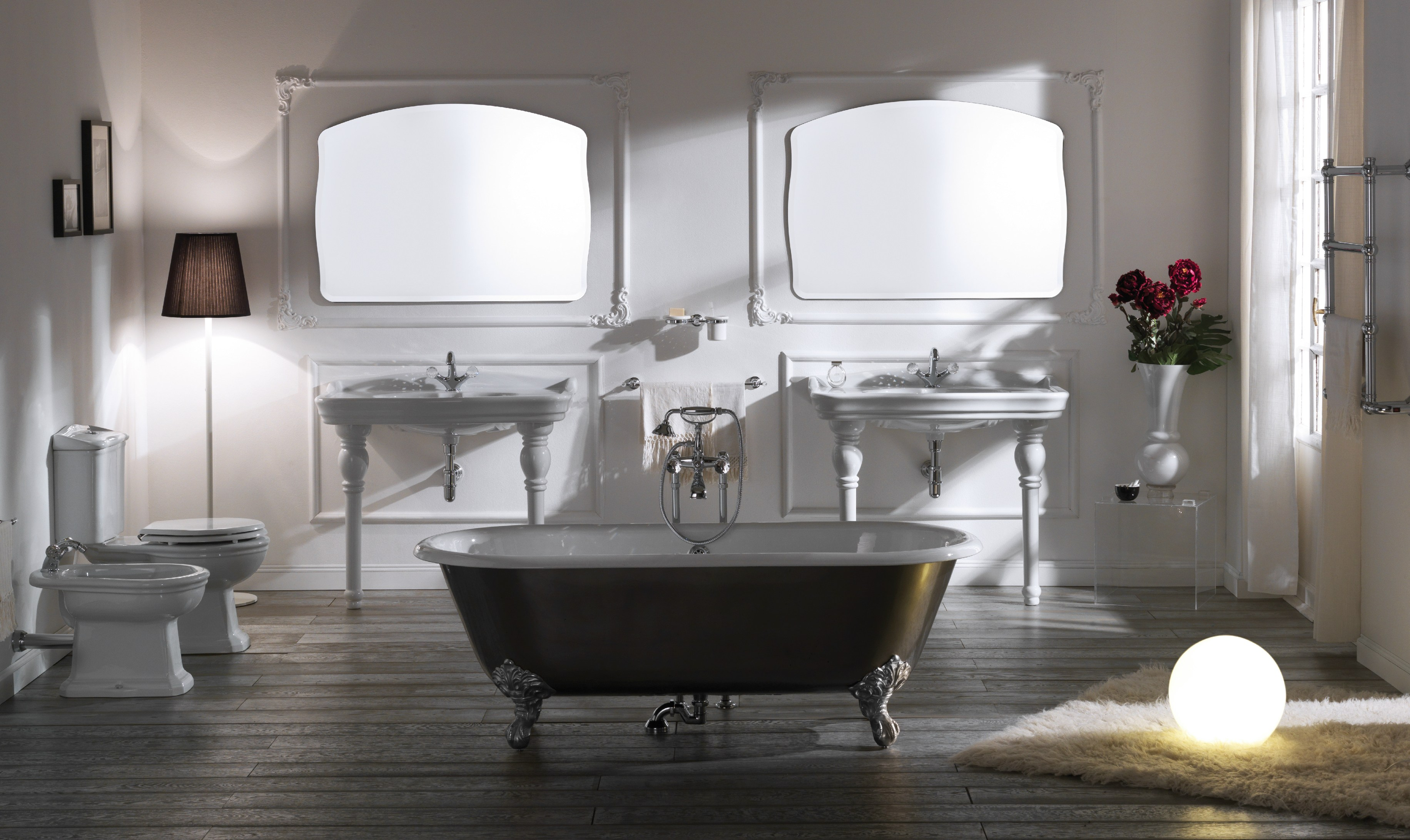 Impero style vasca da bagno centro stanza by giulini g for Stile impero arredamento