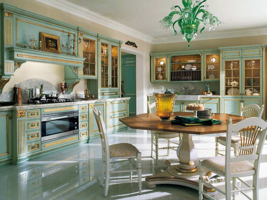 Venetian style lacquered gold leaf kitchen fortuna gold by for Bergamin arredamenti mestre
