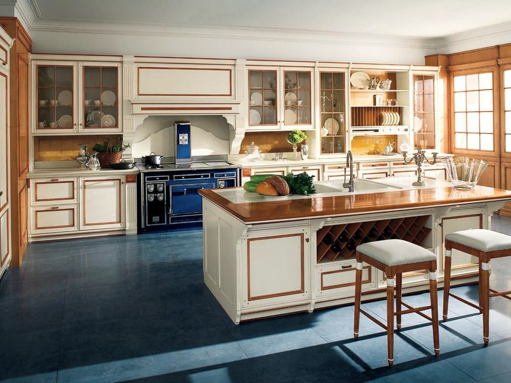 Venetian style lacquered linden kitchen fortuna by ca 39 d for Arredamenti stile liberty