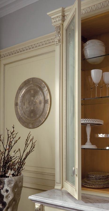 Cucina laccata foglia argento in stile veneziano for Arredamenti stile liberty