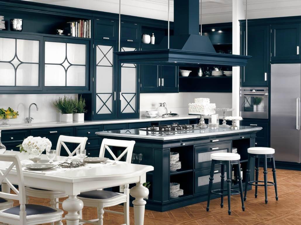 Cucina laccata in legno massello in stile americano PARK AVENUE by Ca d&...
