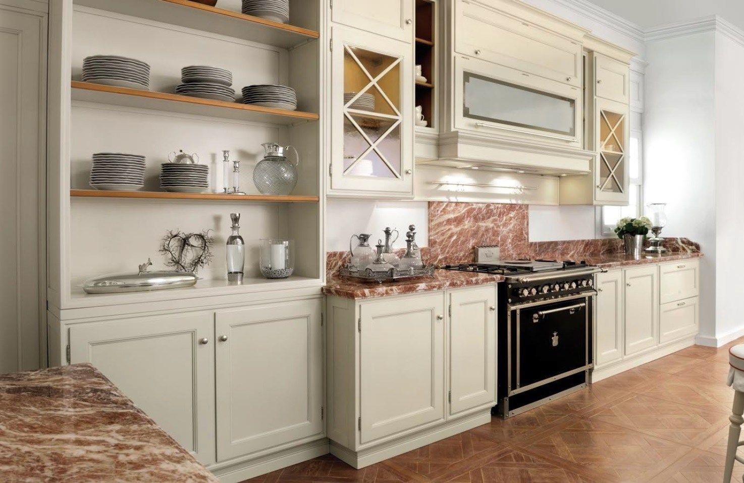 Cucina laccata in legno massello in stile americano park for Arredamenti americani