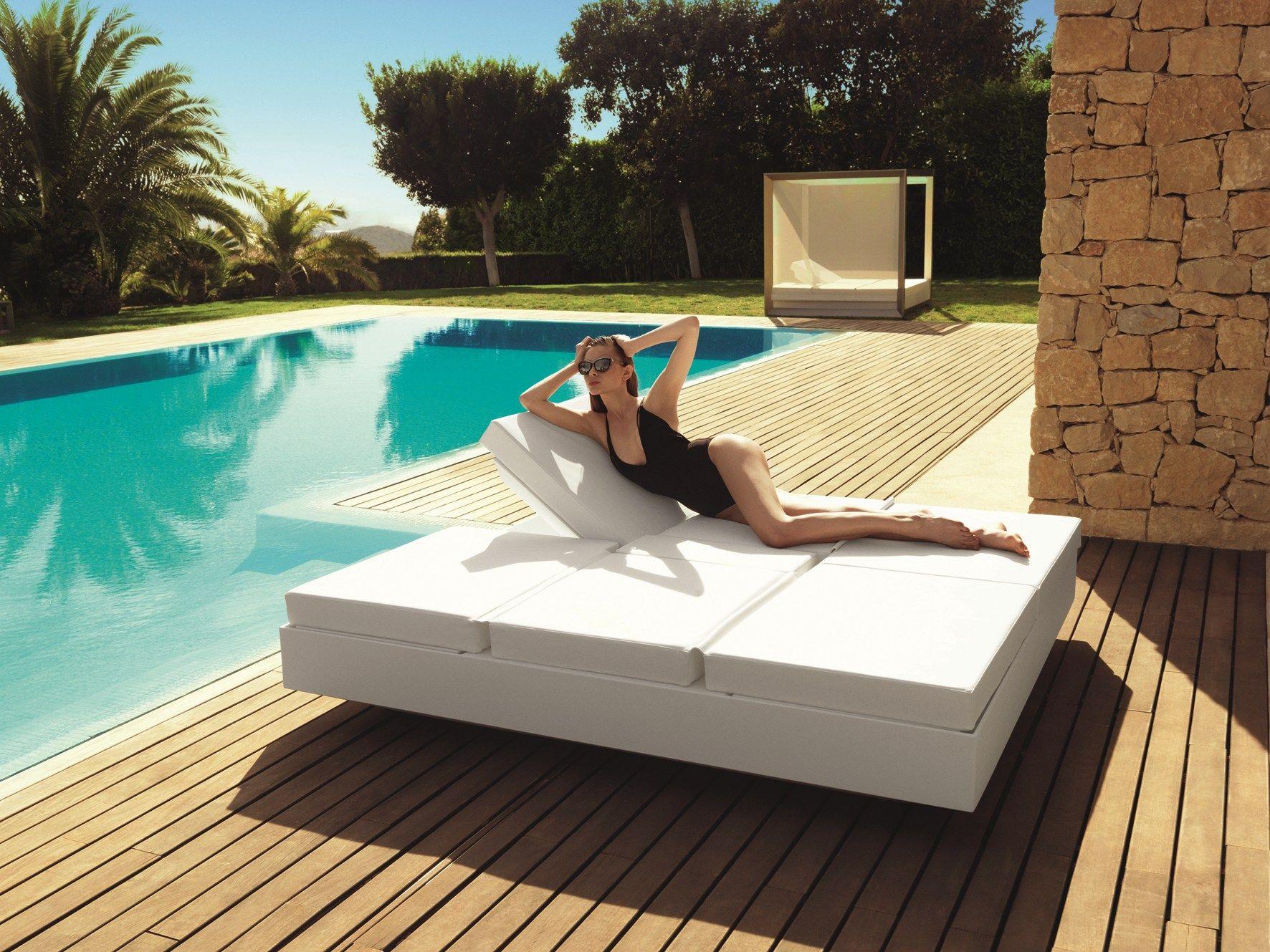 Double Recliner Garden Bed Daybed Vela By Vondom Design