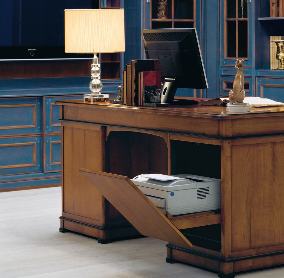 Scrittoio in legno massello in stile veneziano collezione for Arredamenti legno