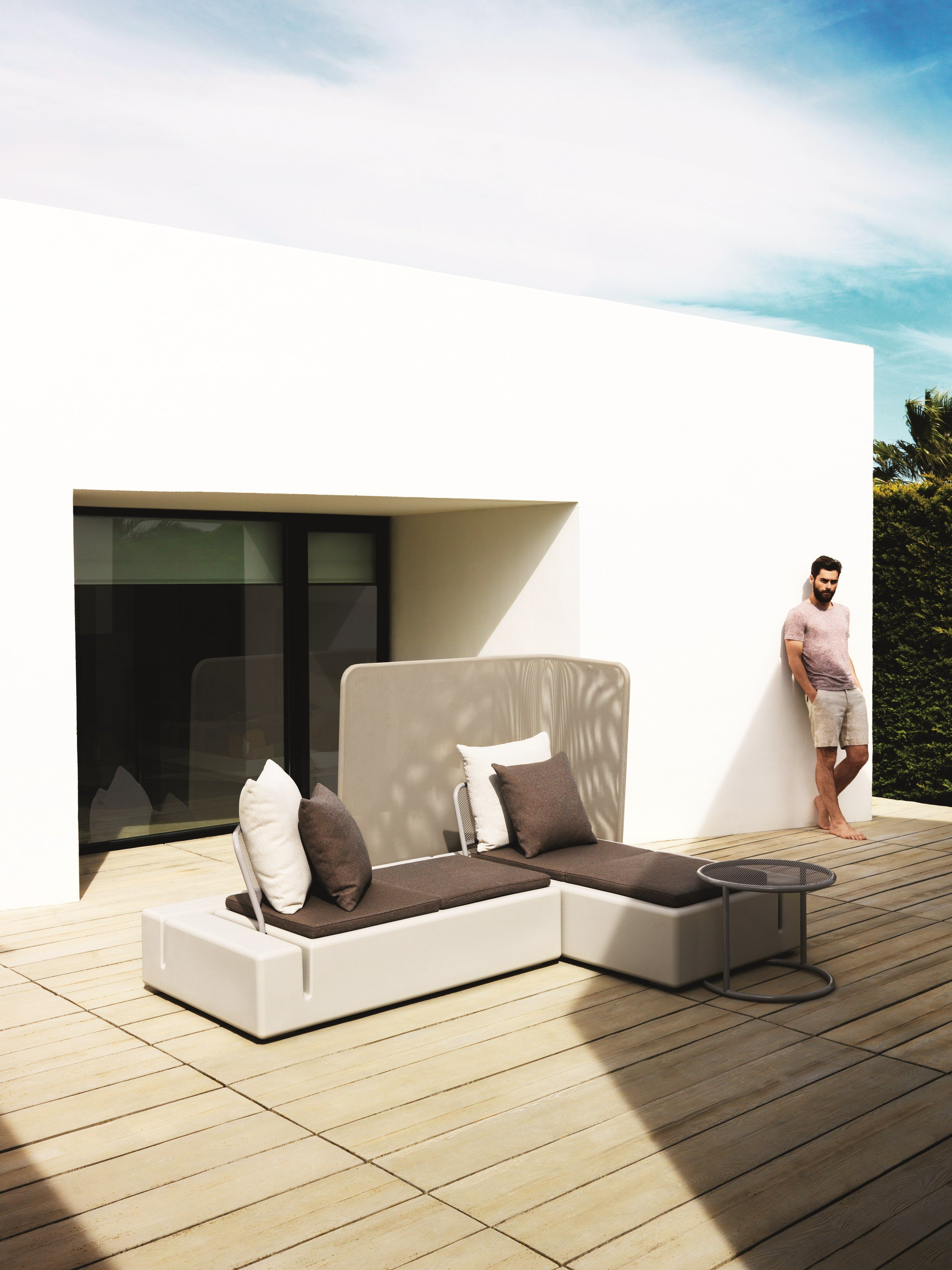 Canap composable de jardin kes by vondom design buratti for Canape composable