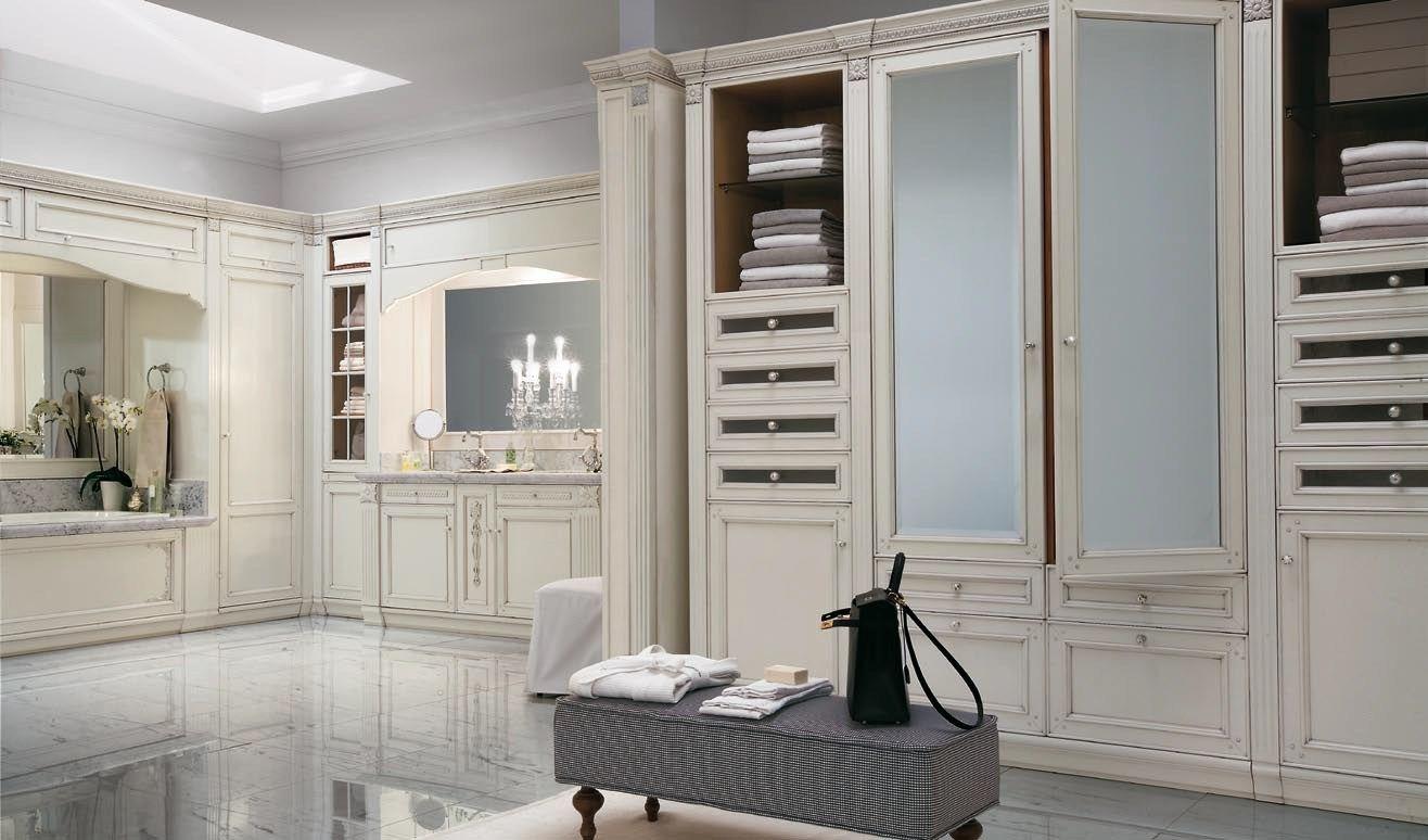 Arredo bagno completo in legno massello in stile veneziano RIALTO ...
