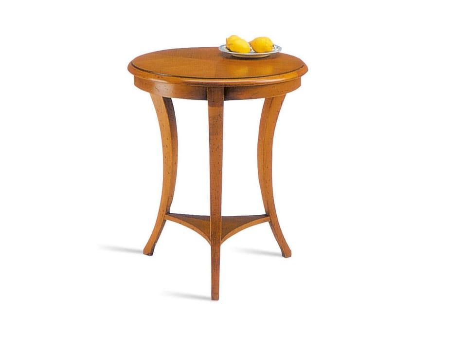 Tavolino rotondo in legno da salotto SARA  Tavolino rotondo - SELVA