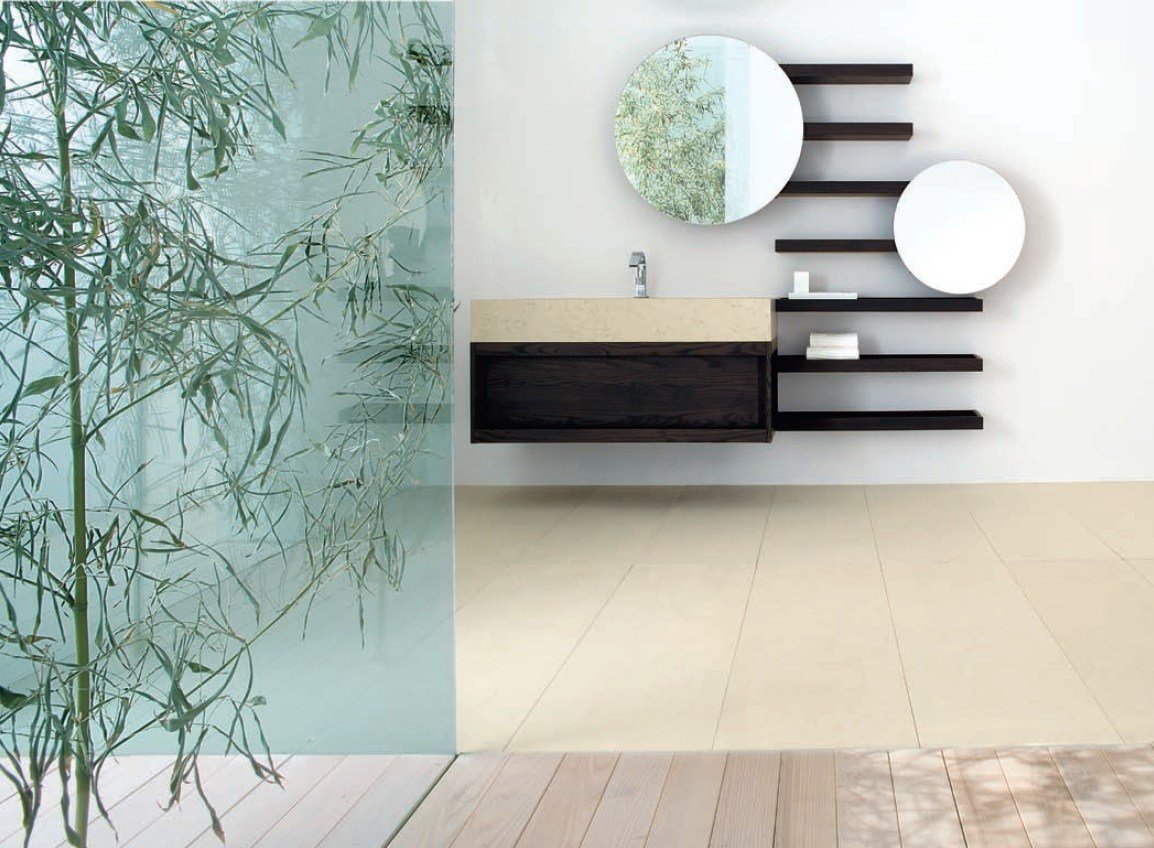 Tag re murale pour salle de bain en fr ne collection weng by dogi by ged ar - Etagere murale wenge ...