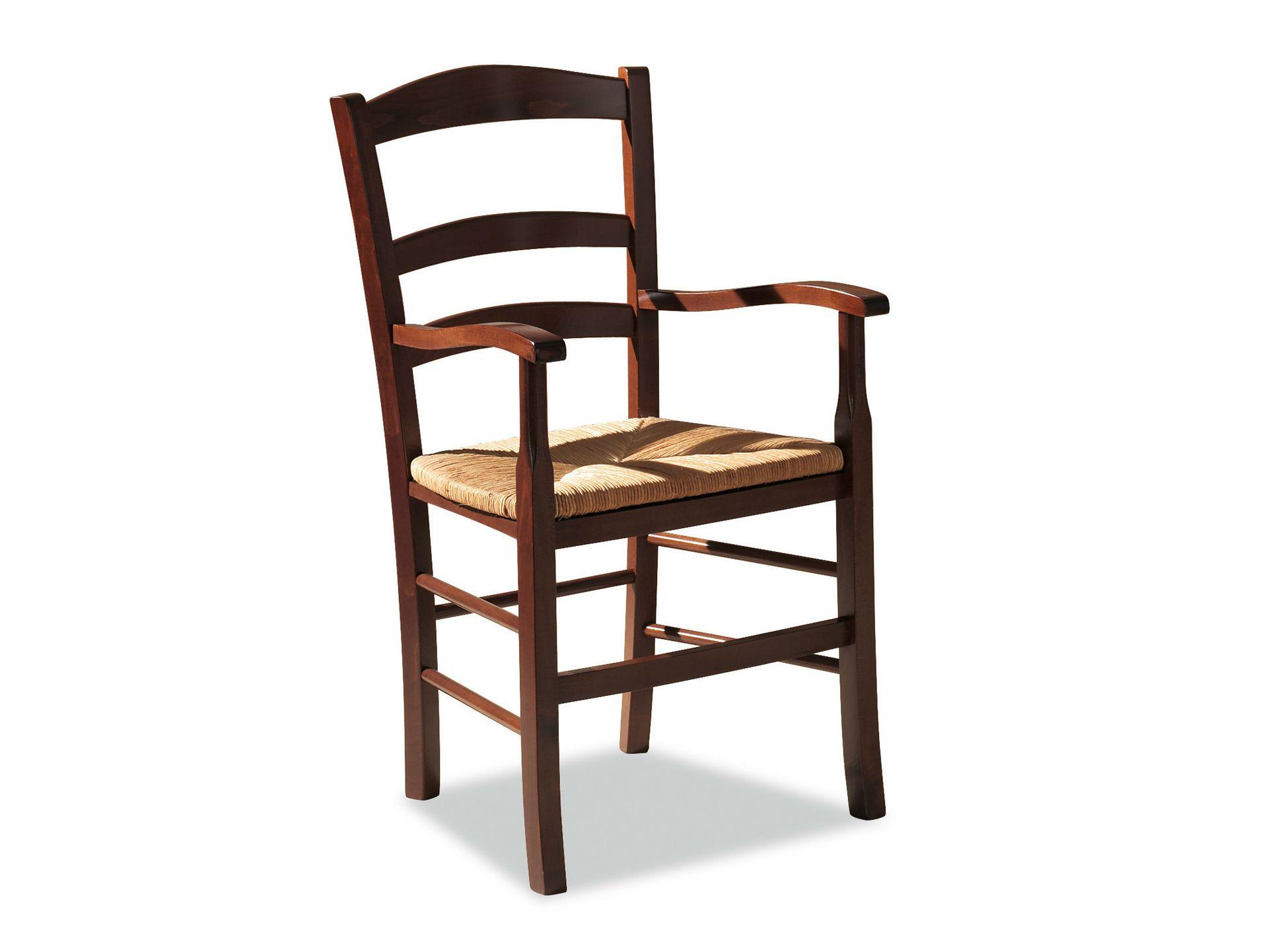 Chaise en h tre avec accoudoirs venezia 42 ap collection for Chaise en hetre