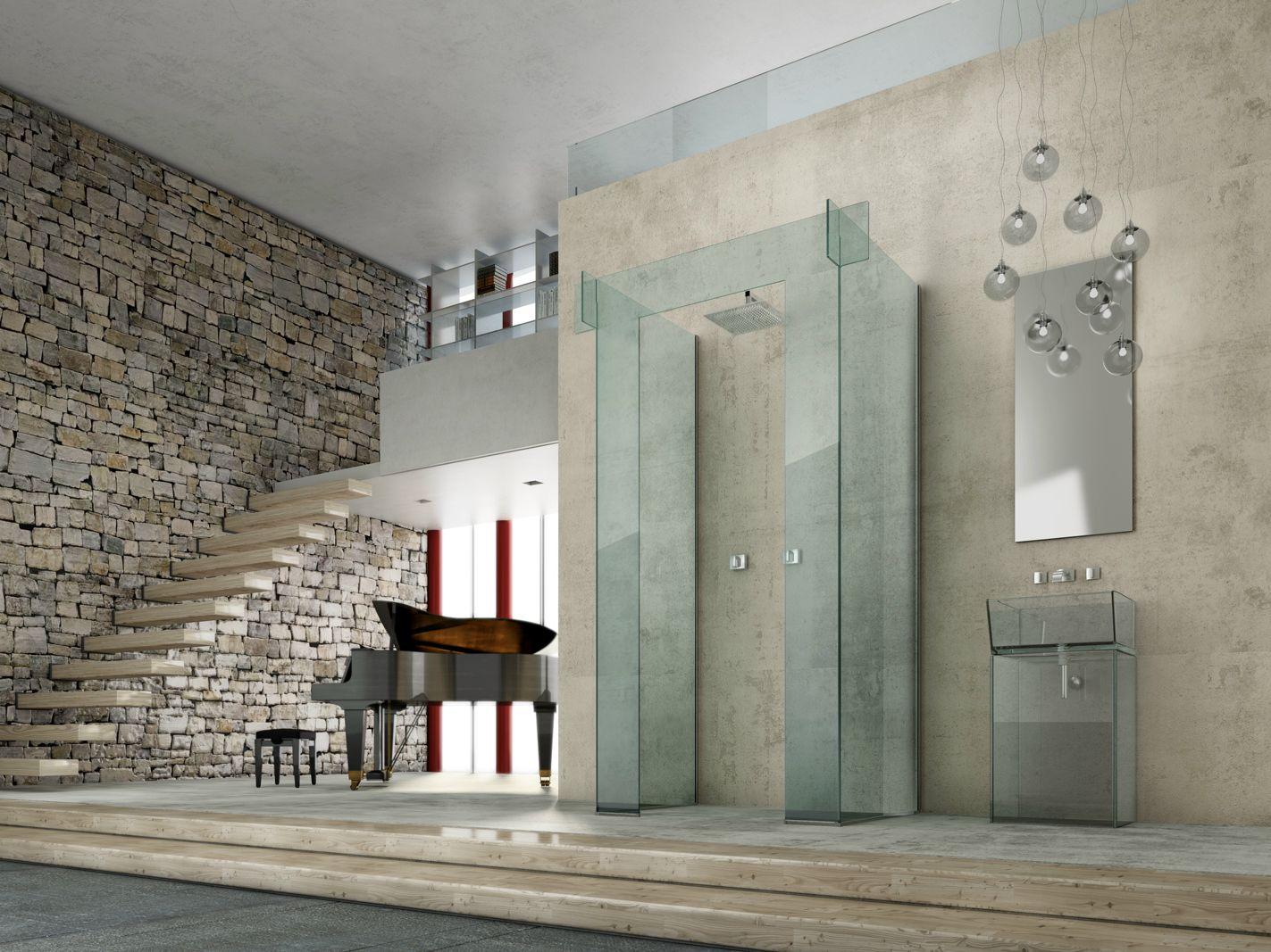 Box doccia in vetro icona separ parete by megius - Box doccia in vetro prezzi ...