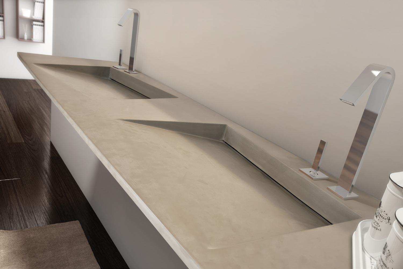lavabo double rectangulaire suspendu flow 10 by lasa idea. Black Bedroom Furniture Sets. Home Design Ideas
