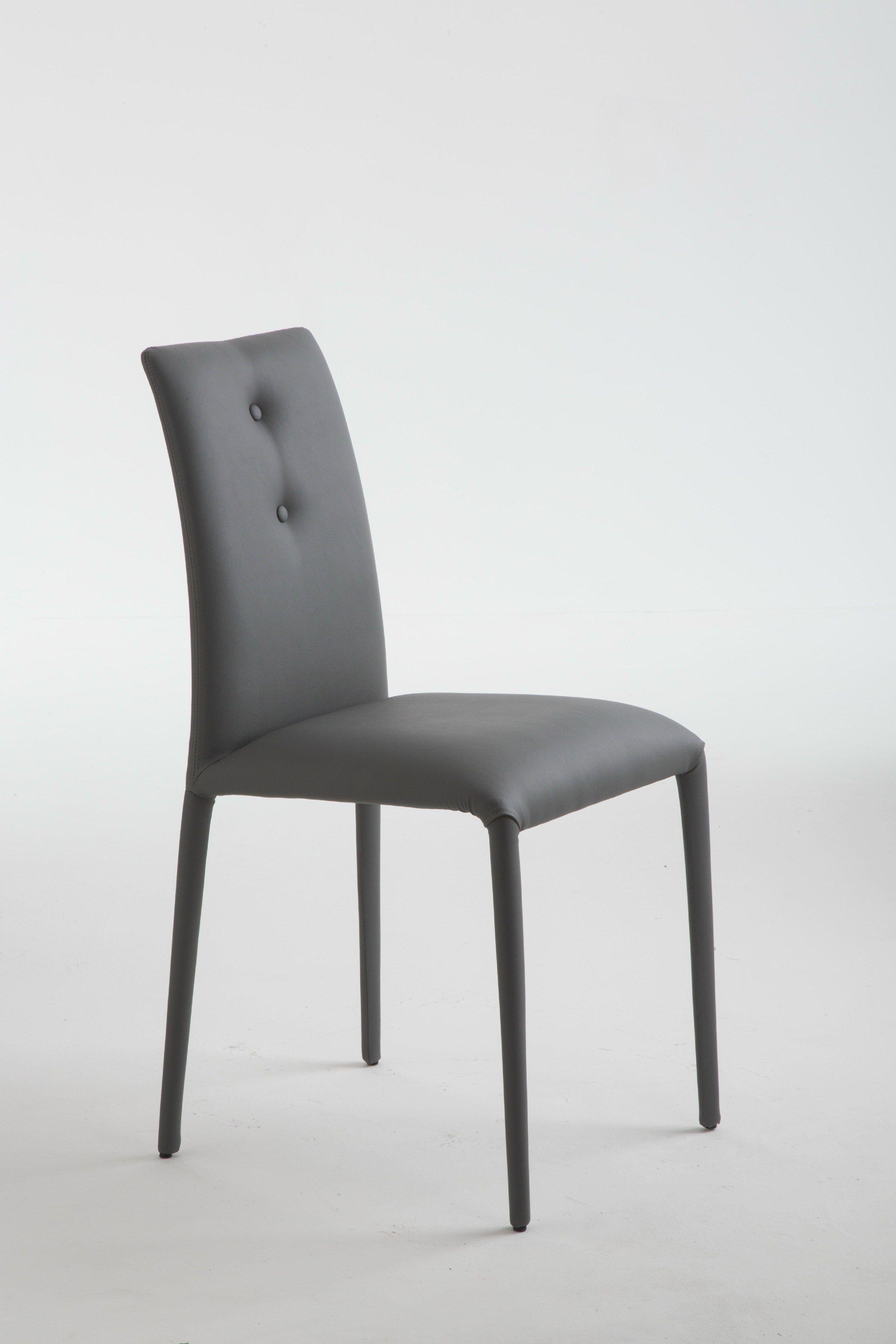 Chaise rembourrée en cuir design pour chr