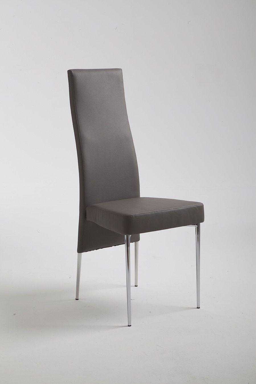 Lady sedia con schienale alto by riflessi design riflessi - Schienale sedia ...