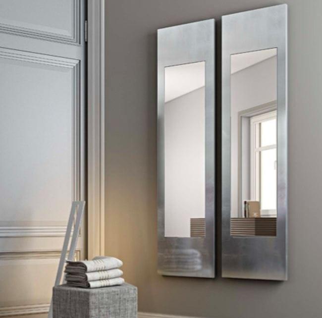 Specchio a parete con cornice alisei by riflessi design - Specchio parete design ...
