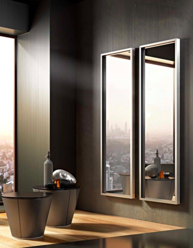 miroir mural sur pied de style contemporain avec cadre altea by riflessi design riflessi. Black Bedroom Furniture Sets. Home Design Ideas