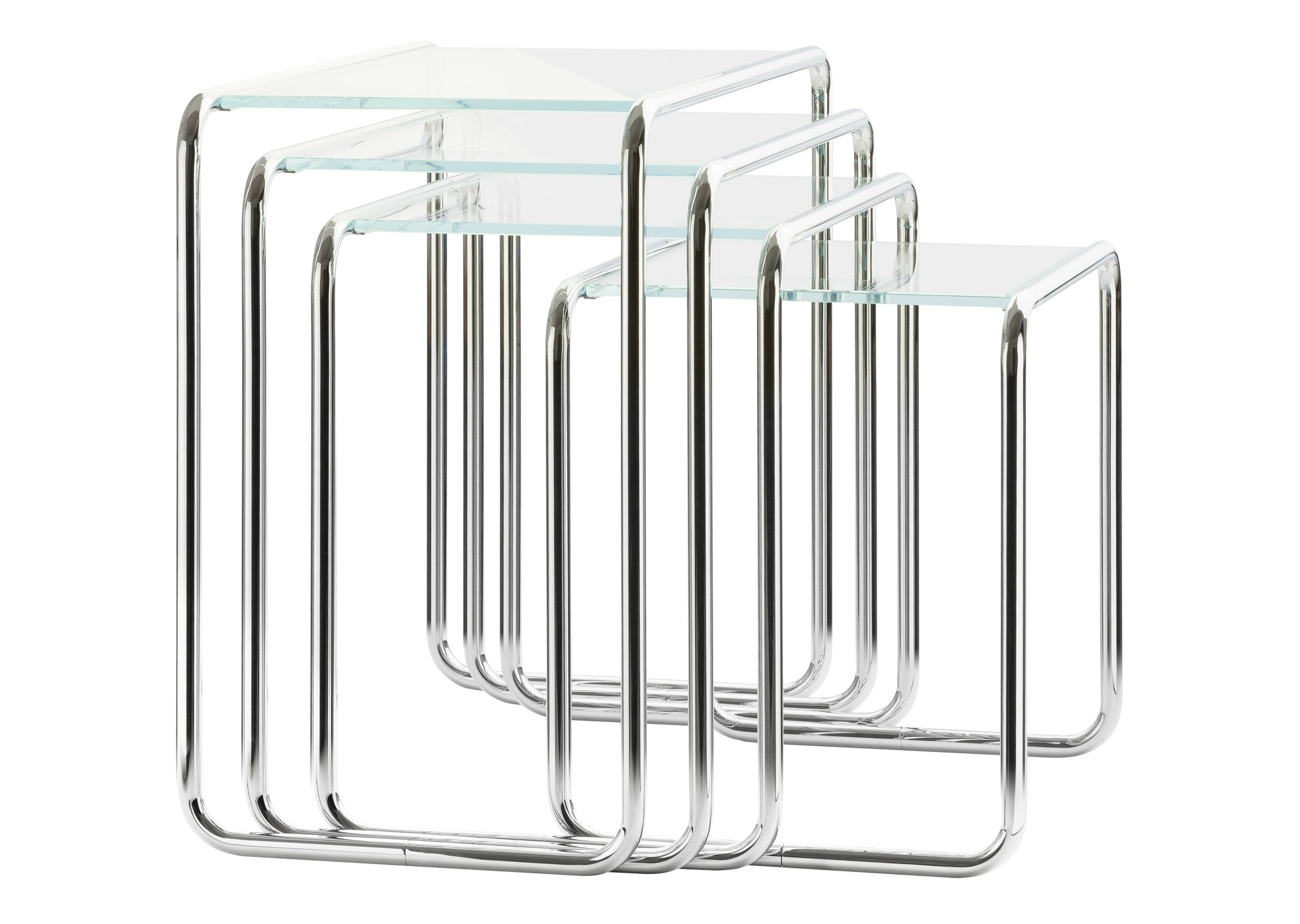Stackable Glass Coffee Table B9 By Thonet Design Marcel Breuer
