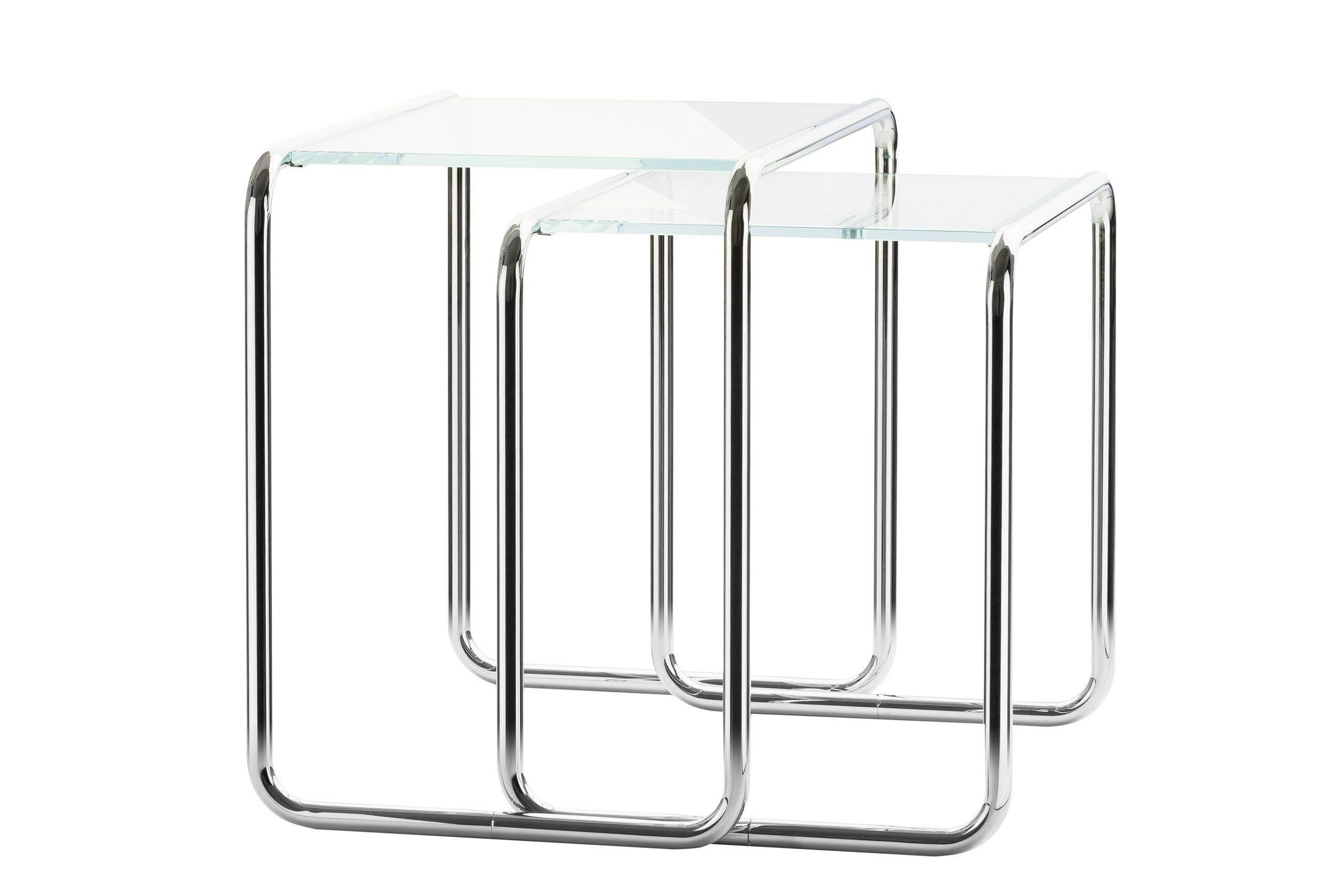 B9 Couchtisch aus Glas by THONET Design Marcel Breuer