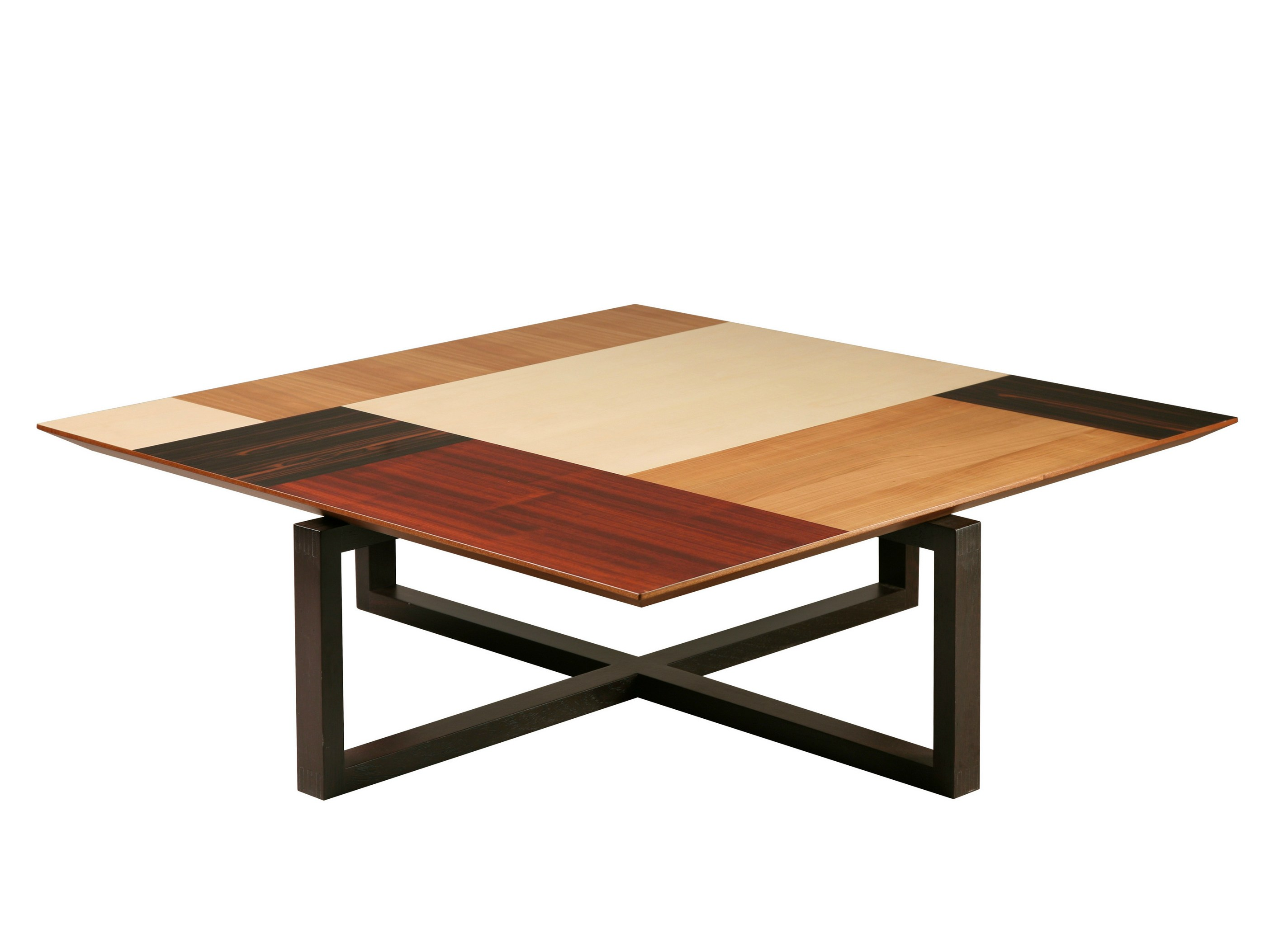 Patchwork square coffee table by morelato design maurizio duranti Low coffee table square