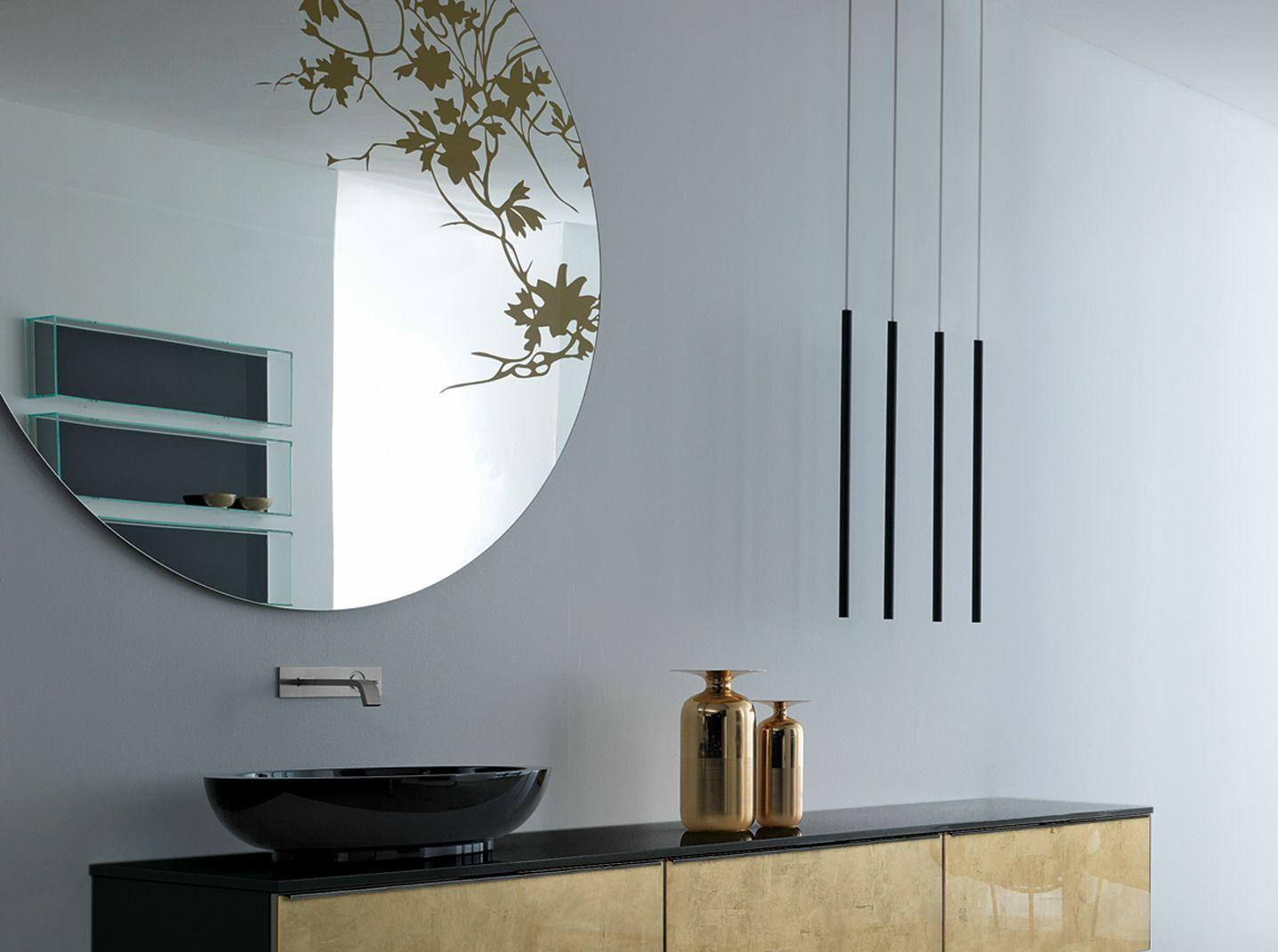 Specchio rotondo a parete round by rifra - Specchio a parete ...
