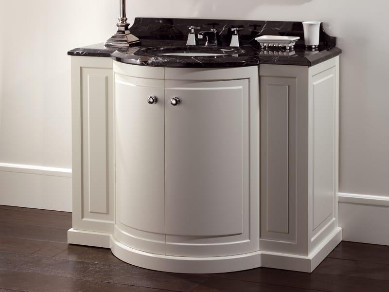 Mueble bajo lavabo de pie de madera clarence by devon devon - Muebles de bano para lavabos con pie ...