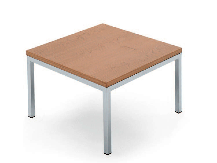 Low wooden coffee table square coffee table polo collection by lamm design r d lamm Low coffee table square