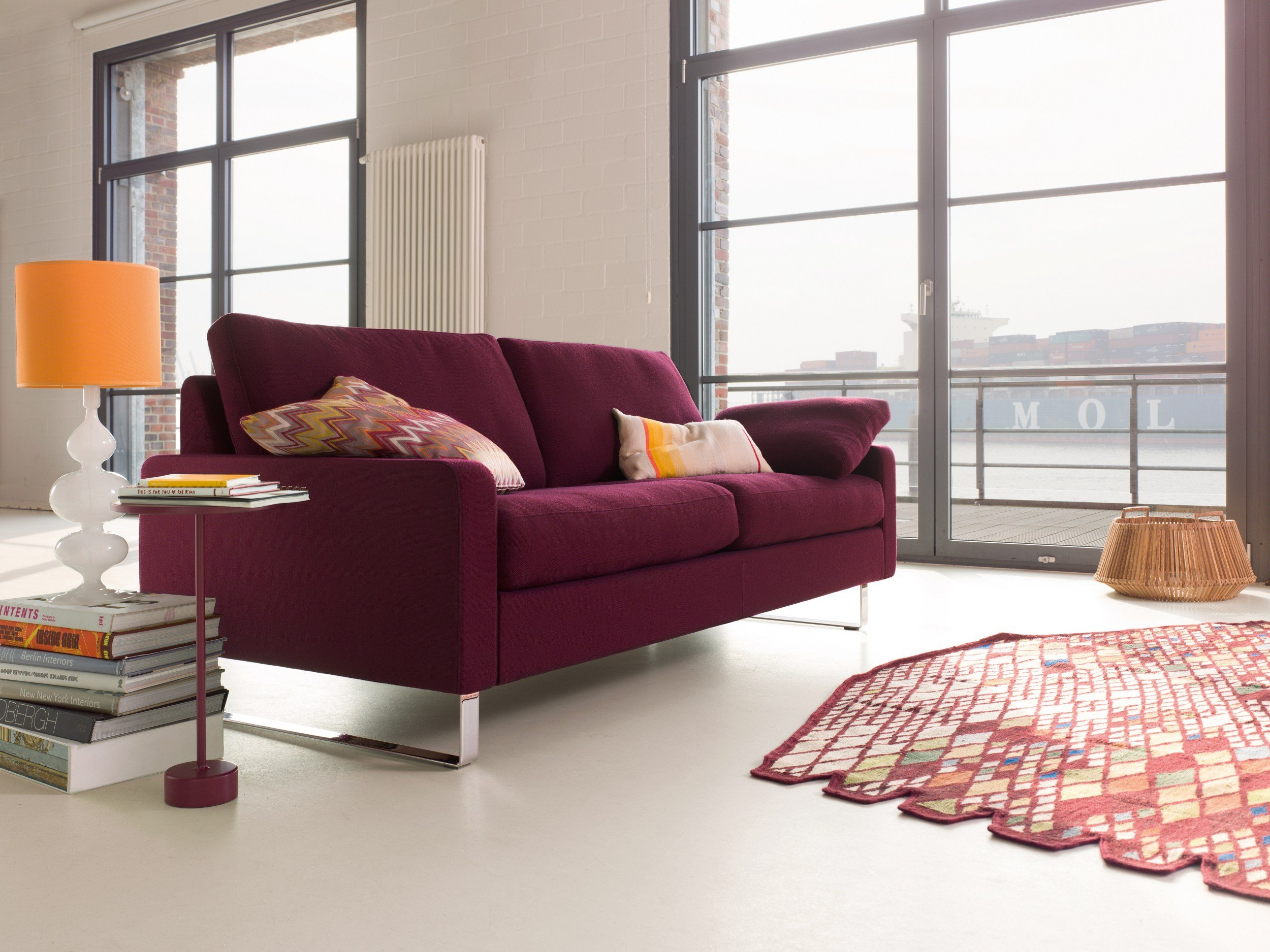 upholstered fabric sofa conseta collection by cor sitzm bel helmut l bke design friedrich. Black Bedroom Furniture Sets. Home Design Ideas