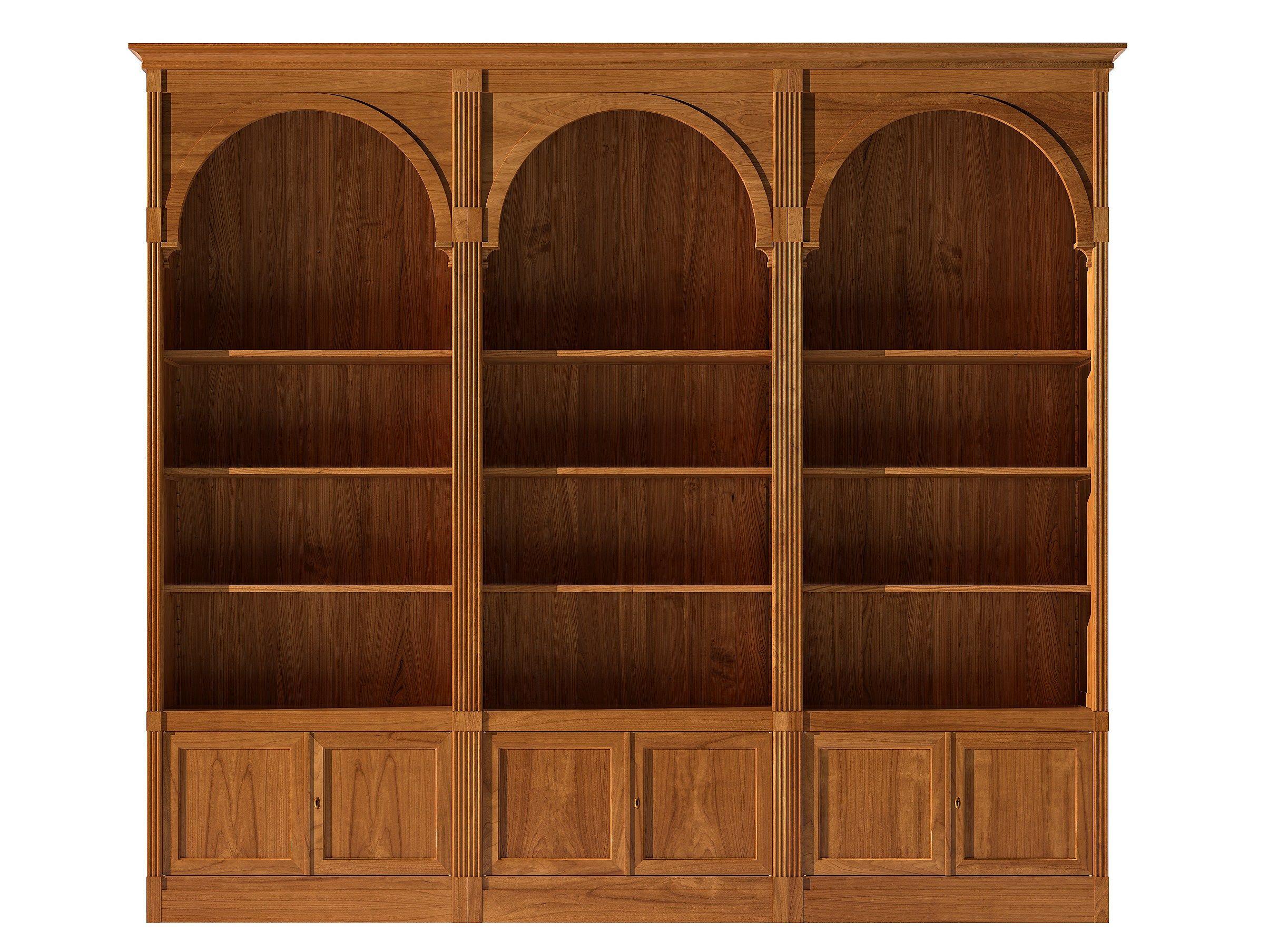 Libreria a giorno componibile modulare in ciliegio for Libreria angolare componibile