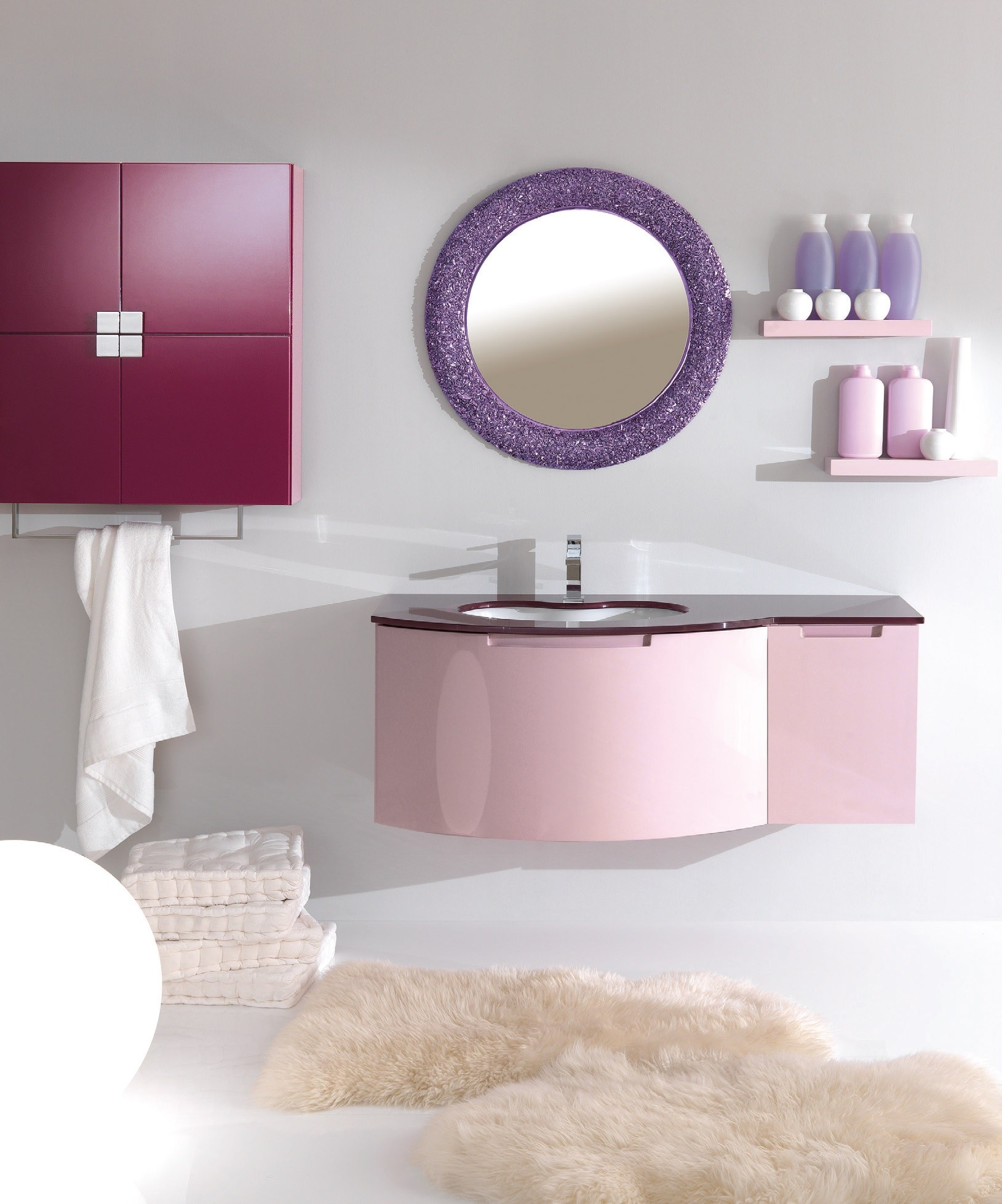 Miroir pour salle de bain glove 1 by lasa idea for Miroir pour salle de bain